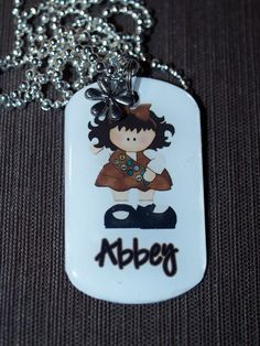 Personalized Brownie Daisy or Girl Scout Necklace by pixelilicious, $10.50