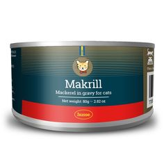 Husse Makrill i Gele Mackerel Fish in Jelly with 100% Natural Human Grade Ingrediants Complementary Pet Food for Cats 24 x 80g