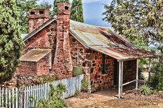 The historic Blundells' Cottage which was built and is one of very few historic buildings built by the first European settlers. It was built as a home for workers on the Duntroon Estate, which was occupied by a number of families for over hundred years Australia Capital, Australia Travel, Western Australia, Old Buildings, Abandoned Buildings, Abandoned Places, Australian Architecture, Australian Homes, Australian Sheds