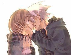 Soul and Maka kiss 3
