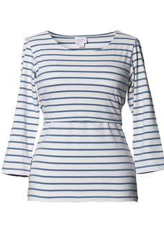 Boob Simone Striped Maternity And Nursing Top 3/4 Sleeve | Maternity Clothes  www.duematernity.com