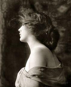 "Circa 1900. ""Portrait of a woman."" Dry plate glass negative, Detroit Publishing Company"