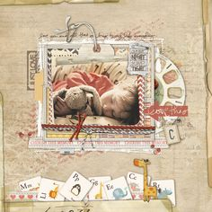 Love all the layering in this page from Carolynn aka mamabean at DesignerDigitals.com!