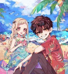 Hanako and Yashiro from Toilet-bound Hanako-kun Otaku Anime, Manga Anime, Anime Chibi, Kawaii Anime, Anime Guys, Anime Art, Totoro, Tamako Love Story, Haikyuu Anime