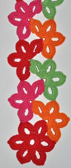Floral Fiesta Crochet Scarf Pattern for Kids & Women  My Little  Crochet Scarves For Kids Patterns