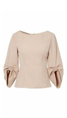 Tibi Drape Twill Corset Peplum Top In White Blouse Styles, Blouse Designs, Formal Tops, Mode Hijab, Classy Outfits, Coats For Women, Blouses For Women, Trendy Fashion, Fashion Dresses