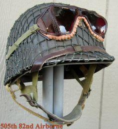 WWII M2 Airborne Helmet 506th Front Seam Inland type Paratrooper Liner Major Net