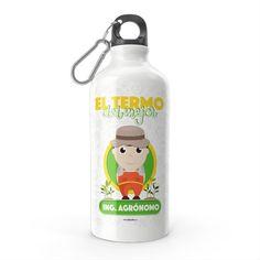 Termo - El termo del mejor ingeniero agrónomo, encuentra este producto en nuestra tienda online y personalízalo con un nombre. Water Bottle, Drinks, Engineer, Carton Box, Store, Crates, Drinking, Beverages, Water Bottles
