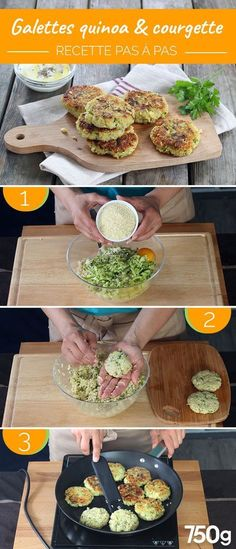 Quinoa and zucchini patties - Cuisine - Healthy recipes easy Healthy Meal Prep, Easy Healthy Recipes, Healthy Cooking, Baby Food Recipes, Vegan Zucchini Recipes, Veggie Recipes, Vegetarian Recipes, Healthy Zucchini, Zucchini Quinoa