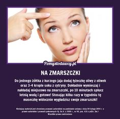 PROSTA DOMOWA MASECZKA WYGŁADZAJĄCA ZMARSZCZKI - SPRAWDZONY PRZEPIS! Beauty Care, Diy Beauty, Ugly Faces, Beauty Habits, Diy Spa, Natural Cosmetics, Health Advice, Facial Masks, Good To Know