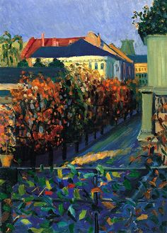 bofransson:    Gabriele Münter View from her Brother´s House in Bonn 1908