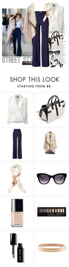 """""""street syle 2"""" by claire86-c on Polyvore featuring Giorgio Armani, COSTUME NATIONAL, Philosophy di Alberta Ferretti, Blumarine, Thierry Lasry, 3.1 Phillip Lim, Chanel, Forever 21, Bobbi Brown Cosmetics and women's clothing"""