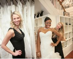 K&B's boutique manager Corinne, with Moore & Co's intern modeling, Jayda and K&B's bridal stylist Crystal!