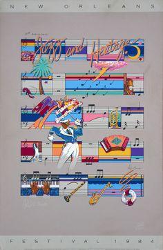 New Orleans Jazz & Heritage Fesitval Posters - 1984