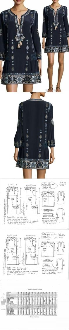 El patrón del vestido de mujer. Las dimensiones de 36-56 (euros) (la Costura y el corte) | la Revista la Inspiración de la Laborera