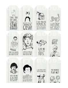 Napoleon Dynamite Movie Quote Gift Tags  Printable  by CraftyGoode