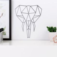 Elefantenkopf Origami aus Holz in vielen verschiedenen Farben erhältlich.