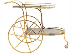 Stuff We Love: We Are Obsessing Over This Vintage Bar Cart   The Vivant