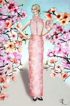 Spring-Summer 2016 Haute Couture Collection illustration by Ramona Chantaf @drawingfeever