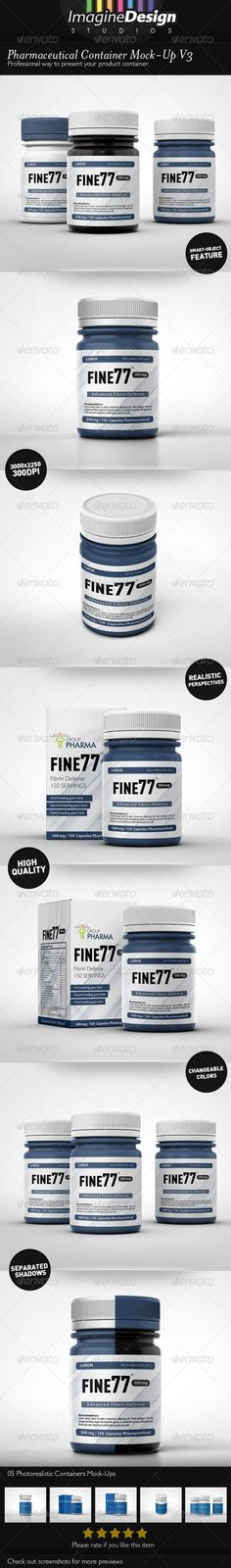 Pharmaceutical Container Mock-Up V3 :  Check out this great #graphicriver item 'Pharmaceutical Container Mock-Up V3' http://graphicriver.net/item/pharmaceutical-container-mockup-v3/6514118?ref=25EGY