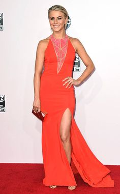 American Beauty from Julianne Hough's Best Looks  Julianne wore this fiery orange Zuhair Murad gown to the American Music Awards in November 2014.
