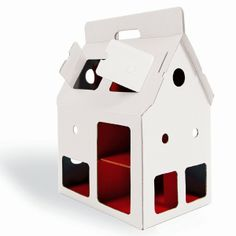 cardboard dog/cat house