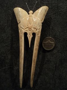 Hey, I found this really awesome Etsy listing at https://www.etsy.com/listing/260248929/carved-deer-antler-hair-pin-butterfly