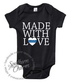Southern Charm Designs - Made with Love Infant - LEO, $17.00 (http://www.shopsoutherncharmdesigns.com/made-with-love-infant-leo/)