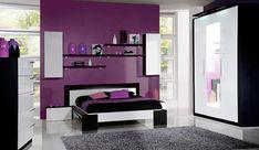noir blanc et violet - Salon Noir Blanc Violet