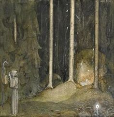 """Broder Martin"" tale, from ""Bland Tomtar och Troll"" 1913, illustrated by John Bauer"
