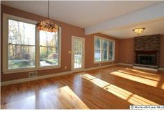 Fireplace in Middletown home for sale #openfloorplan