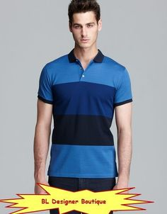 MARC BY MARC JACOBS Newport Tonal Block Stripe Polo Shirts NEW NWT