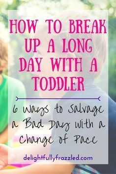 Days with a toddler can sometimes feel like they're 4,000 hours long. Here are some of my favorite ideas for breaking up those long days and giving both you and your toddler a break! | toddler activities | stay-at-home mom | raising toddlers | independent play | long days | parenting resources | toddler resources | preschool activities | work-at-home mom resources