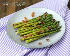 marinated asparagus with bacon