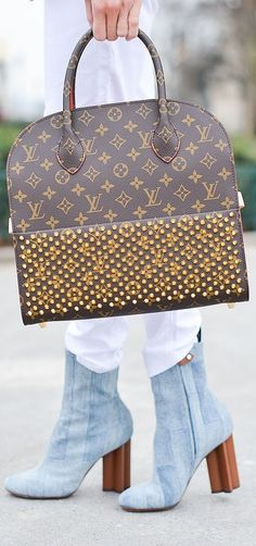 Louis Vuitton bag meet Louis Vuitton booties.