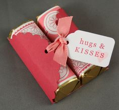 Personalized candy with cute paper wrap