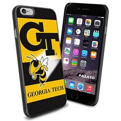 """Georgia Tech Yellow Jackets iPhone 6 4.7"""" Case Cover Protector for iPhone 6 TPU Rubber Case SHUMMA http://www.amazon.com/dp/B00T401E7A/ref=cm_sw_r_pi_dp_6faewb00AY1QW"""