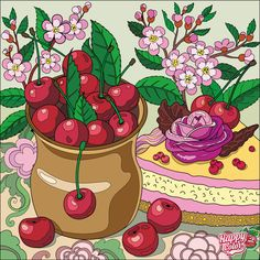 Sweet Cherries, Happy Colors, Paint By Number, Animal Kingdom, Coloring Books, Coloring Stuff, Disney Characters, Fictional Characters, Disney Princess