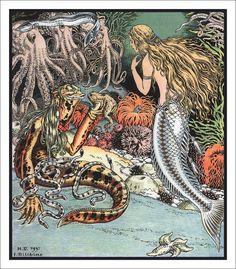 """«The Little Mermaid."""" Drawings by Ivan Bilibin, 1937"""