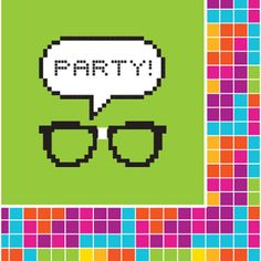 Get Nerdy 2 Ply Lunch Napkins/Case of 192 Minecraft Party, Mad Science Party, Party World, Party Stores, Party Supplies, Nerdy, Napkins, Lunch, Birthday