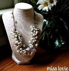 On your wedding day, all eyes should be on you, and with this DIY Statement Bridal Necklace, they certainly will be. This DIY necklace design is real show-stopper, which makes it perfectly suited for a blushing bride's big day.