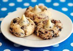 Cookies and cream Kiss Cookies Sugarplumblog.net