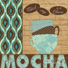 Mocha By The Cup Canvas Print / Canvas Art by Marilu Windvand