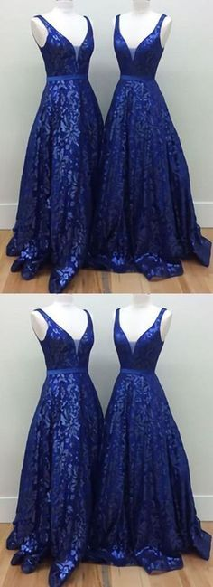 Royal blue lace long V-neck A-line prom dress, long halter evening dress,P 688 Long Prom Gowns, Backless Prom Dresses, A Line Prom Dresses, Evening Dresses, Dress Prom, Dress Long, Dresses 2014, Nova Dresses, Formal Dresses