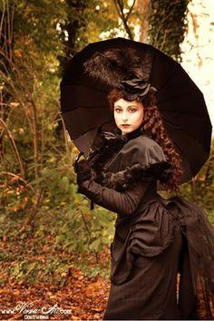 victorian black long dress
