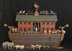 Hand carved wooden Noah's Ark by ArksAndAngelsMDallas on Etsy, $925.00