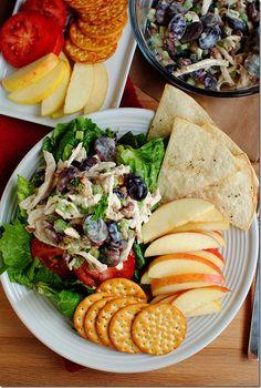 Honey Roasted Chicken Salad is light and refreshing with a tasty, honey-roasted twist. Mayo free, too! #glutenfree | iowagirleats.com