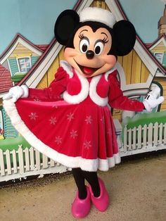 Minnie Mouse in her amazing Holiday outfit