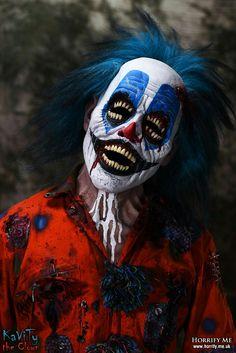 Clown Kavity - Horrify Me, horror photography and portraits of rotting zombies… Halloween Clown, Gruseliger Clown, Scary Clown Makeup, Clown Mask, Halloween Horror, Funny Makeup, Halloween Carnival, Day Of Dead, Evil Clowns