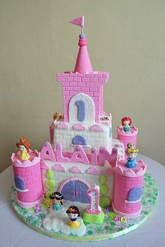 Princess Castle Birthday Cake Picture